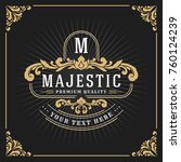 vintage luxury monogram banner... | Shutterstock .eps vector #760124239