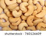 unshelled roasted and salted... | Shutterstock . vector #760126609