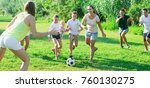 family with kids having fun... | Shutterstock . vector #760130275