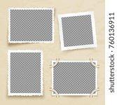 old victorian image frames.... | Shutterstock .eps vector #760136911