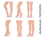 beautiful elegant woman legs... | Shutterstock .eps vector #760136941