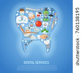 dental services concept with...