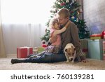 boy and little girl with a...   Shutterstock . vector #760139281