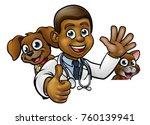 a cartoon vet character with... | Shutterstock .eps vector #760139941