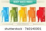 man body mass index. vector... | Shutterstock .eps vector #760140301