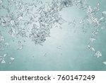modern light polygonal... | Shutterstock . vector #760147249