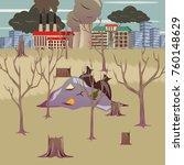 environmental pollution man... | Shutterstock .eps vector #760148629