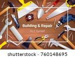 house renovation repair...   Shutterstock .eps vector #760148695