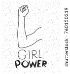 girl power text with female... | Shutterstock .eps vector #760150219