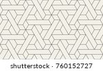 abstract geometric pattern with ... | Shutterstock .eps vector #760152727