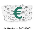 banking concept  painted green... | Shutterstock . vector #760161451