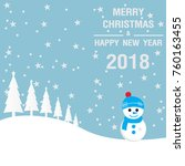 merry christmas and happy new... | Shutterstock .eps vector #760163455