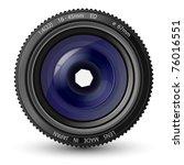 vector illustration of a camera ... | Shutterstock .eps vector #76016551