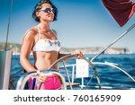 attractive model woman in sexy... | Shutterstock . vector #760165909