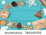 christmas mock up with place... | Shutterstock . vector #760169335