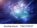 digital fingerprint on... | Shutterstock . vector #760170937