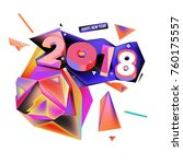new year 2018. colorful design. | Shutterstock .eps vector #760175557