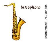 music instrument saxophone hand ...   Shutterstock .eps vector #760184485