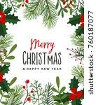 christmas background . vector... | Shutterstock .eps vector #760187077