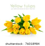 Yellow Tulip Flowers Bouquet...