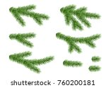 set of spruce branch isolated... | Shutterstock .eps vector #760200181