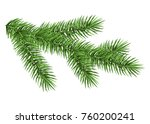 spruce branch isolated on white ... | Shutterstock .eps vector #760200241