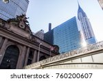 grand central terminal in front ... | Shutterstock . vector #760200607