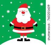 cute santa on snowing design... | Shutterstock .eps vector #760201609