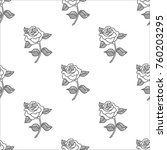 Abstract Seamless Rose Pattern...