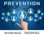 prevention   text concept with... | Shutterstock . vector #760204261