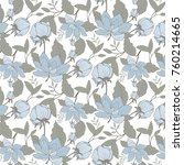 nature pattern with flowers on... | Shutterstock .eps vector #760214665