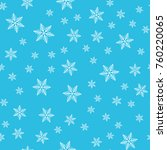 seamless snowflakes pattern for ...   Shutterstock .eps vector #760220065