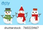 snowman on paper background... | Shutterstock .eps vector #760223467