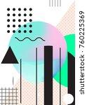 colorful minimal geometric... | Shutterstock .eps vector #760225369