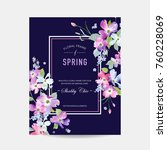blooming spring and summer... | Shutterstock .eps vector #760228069