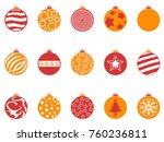 orange and red color christmas... | Shutterstock .eps vector #760236811