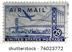 old u.s. airmail postage stamp   Shutterstock . vector #76023772