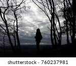 lady asian silhouette standing... | Shutterstock . vector #760237981