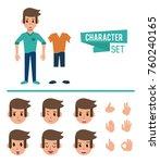 man character cartoon | Shutterstock .eps vector #760240165