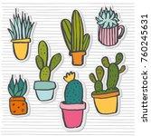 vector hand drawn sketch... | Shutterstock .eps vector #760245631