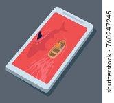 predators internet vector... | Shutterstock .eps vector #760247245