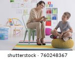 professional child counselor... | Shutterstock . vector #760248367