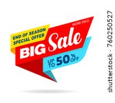 sale banner original design...   Shutterstock .eps vector #760250527