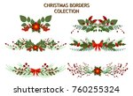 christmas tree branch... | Shutterstock .eps vector #760255324