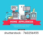 vector online shopping... | Shutterstock .eps vector #760256455