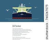 poster with industrial vessel...   Shutterstock .eps vector #760267075