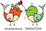 couple love cute bird    Shutterstock .eps vector #760267234