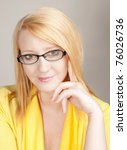 Attractive Blonde Woman Wearin...
