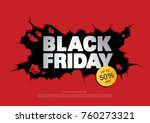 black friday sale banner layout ... | Shutterstock .eps vector #760273321
