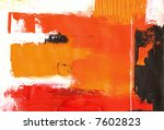 rough painted background in... | Shutterstock . vector #7602823